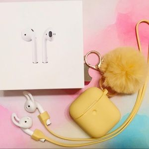 Airpods 2 with Charging Case w/ Free accessories!